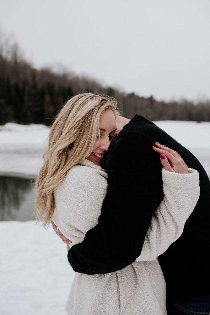 cute winter couple pics